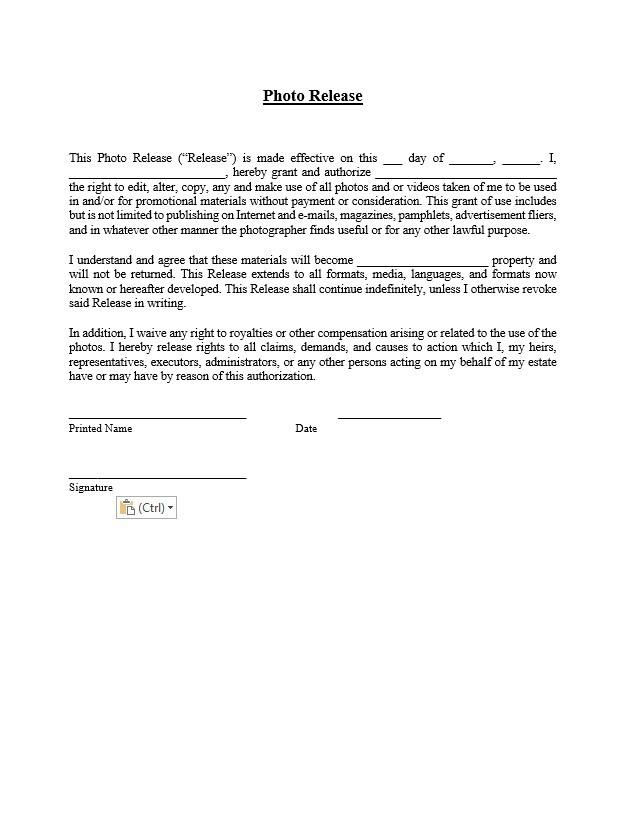 Image Release Form Template from www.approveme.com