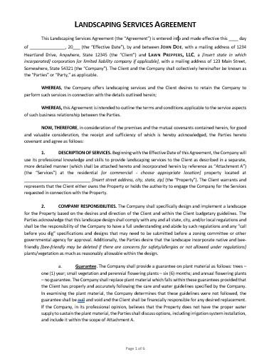 Landscaping Contract Template Approveme Free Contract Templates