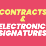 Protecting Contracts Using Electronic Signatures