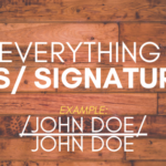 S Signature Meaning