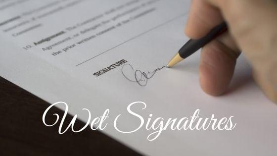 Wet Signature Logo