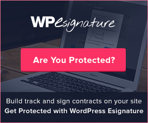 Sign using WordPress