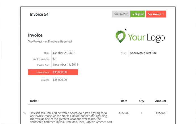 sprout invoices e signature