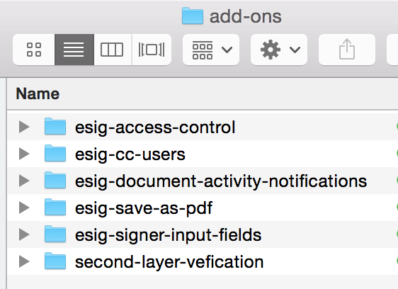 condensed esign add-ons