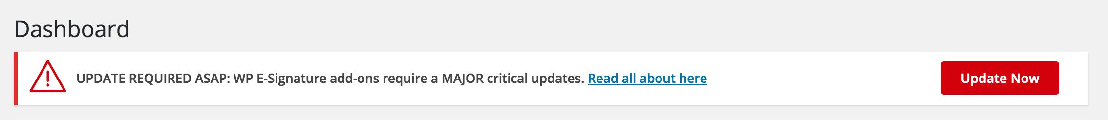 wordpress e-signature update now