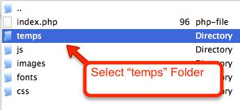 select-temps-folder