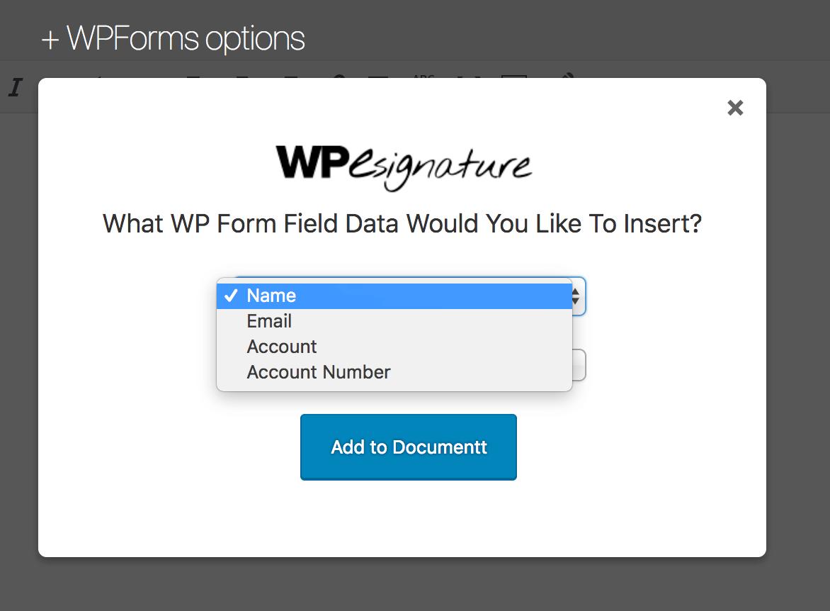 Form Field Dropdown to insert data
