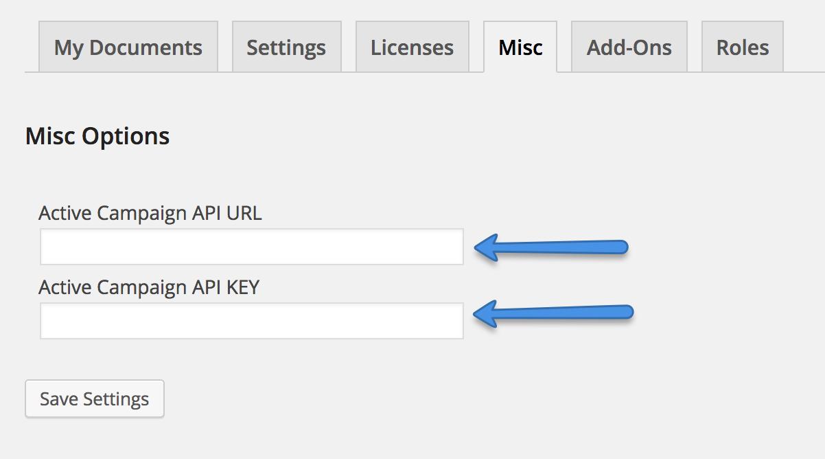WP Digital E-Signature Active Campaign Email Automation API