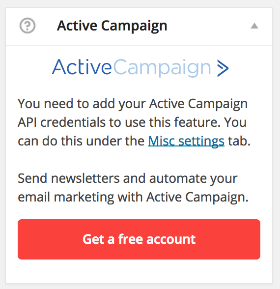 WP Digital E-Signature Active Campaign Email Automation Signup