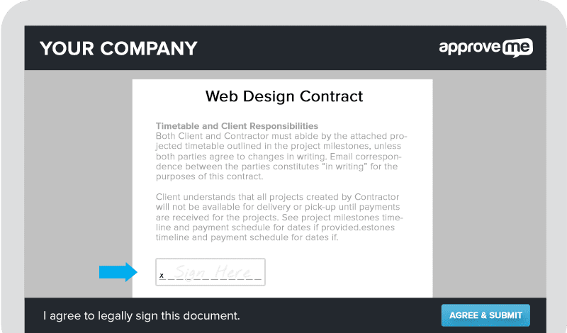 Wordpress Web Design Contract: Create a WordPress Electronic Signature Onlinerh:approveme.com,Design