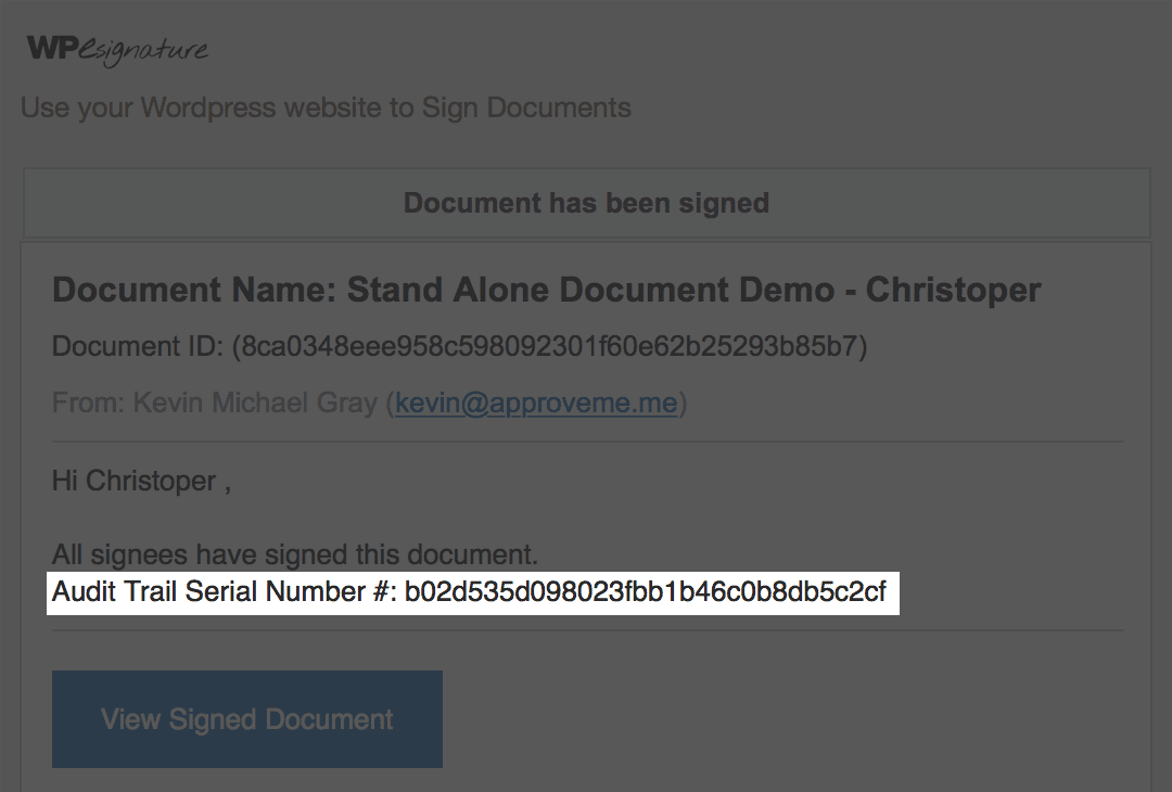 audit signature id