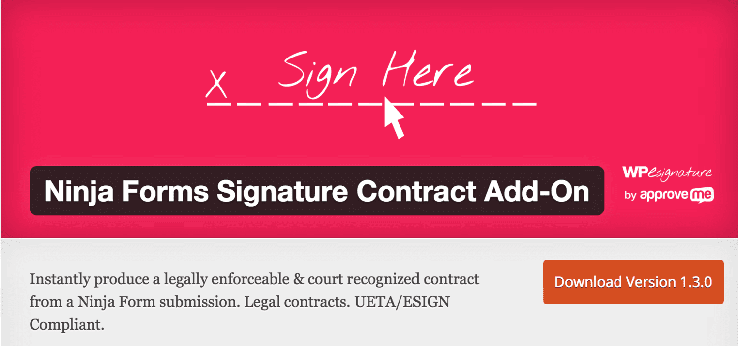 Ninja Forms Signature Contract Automation | Approve Me