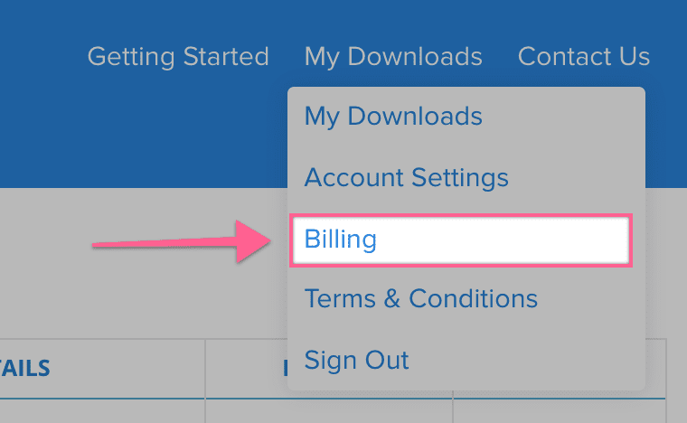 my downloads menu