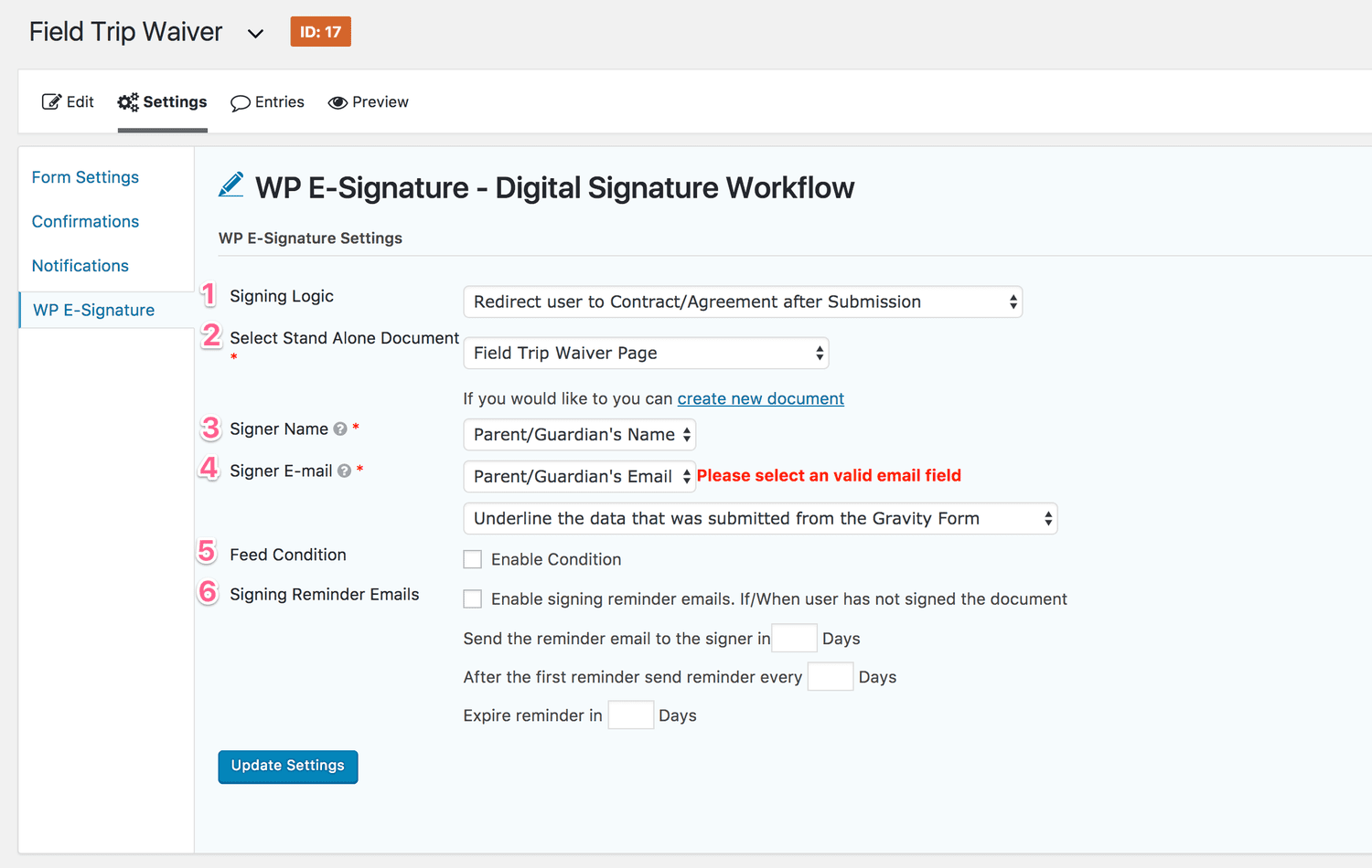 sign contracts online with esignature